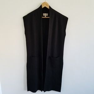 Joan Vass Open Front Cardigan Sweater Duster Small